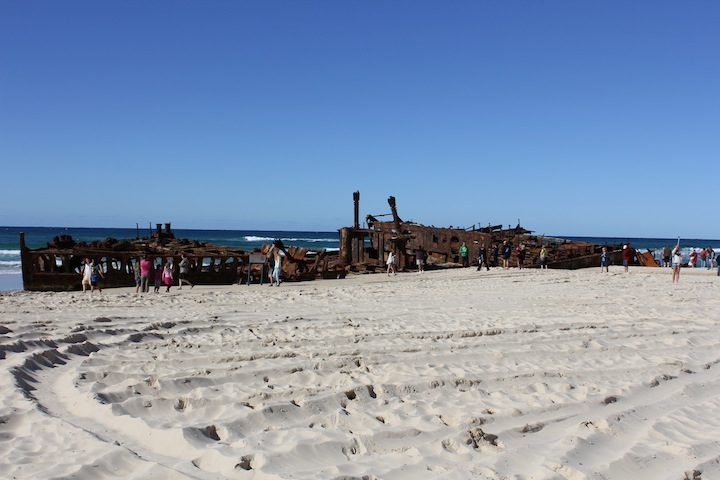 The Maheno Shipwreck.